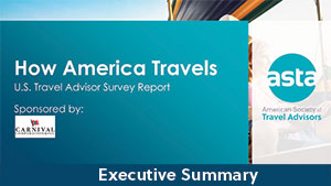 How America Travels 2019 US Travel Advisor Survey (Summary)<BR>Non-Member Price: $199.00<BR>Member Price: $0.00